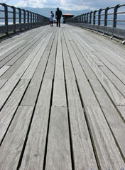 Treading the boards at Beaumaris Pier