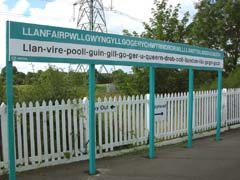 Llanfair PG Station Sign, Anglesey