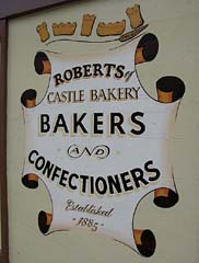 Castle Bakery sign, Beaumaris