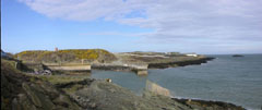 A panoramic shot of the small seaside port of Amlwch on Anglesey