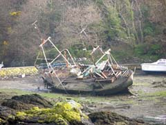 Abandoned Boat at Menai Bridge