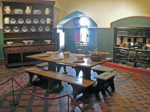 The Kitchen at Castel Coch. Photograph © Janice Lane