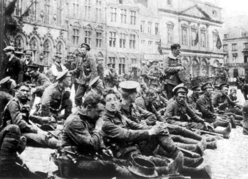 British Soldiers at Mons, August 1914