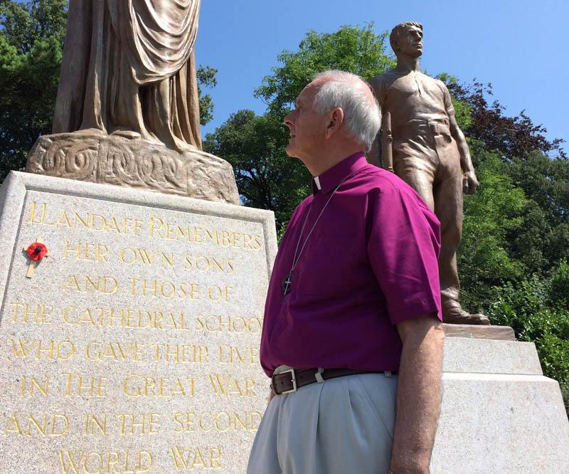 The Archbishop at the Llandaff War Memorial
