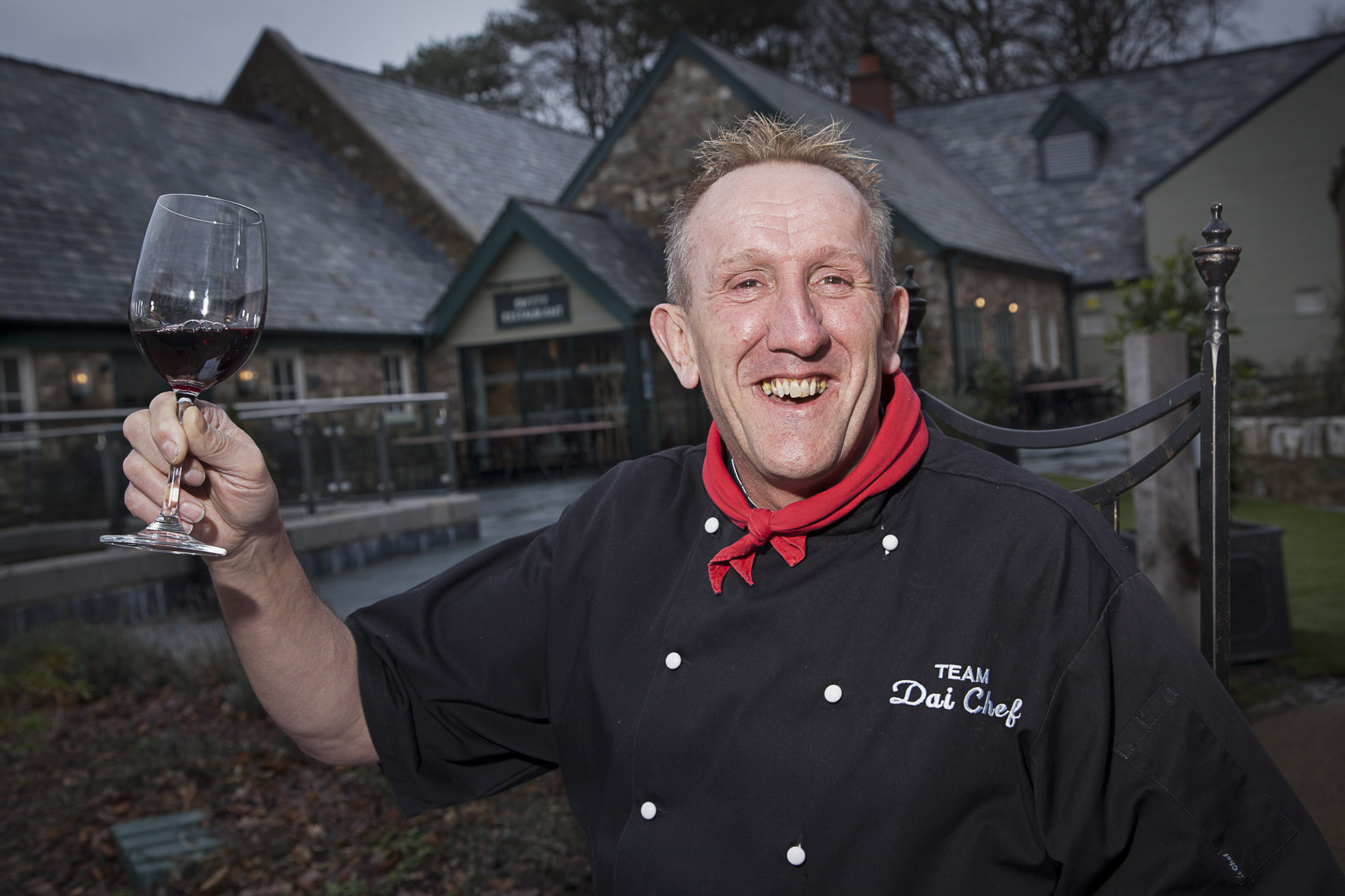 BODNANT WELSH FOODS . Pictured is Chef Dai Davies at Bodnant Welsh Foods.