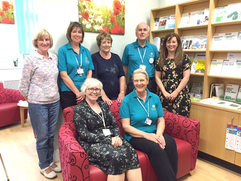 Staff at the Information and Support Centre, University Hospital Llandough