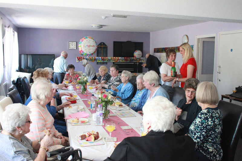 Orchard Court residents enjoying a special afternoon tea