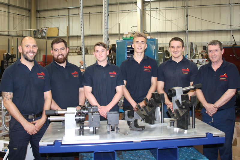 New apprentices with mentors and supervisors