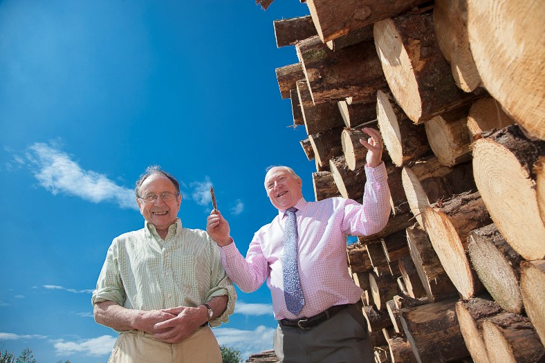 Clifford Jones Timber in Ruthin sponsor .pictured is Robert Sells the conductor of the Vale of Clwyd Singers with Keith Corbett of Clifford Jones Timber who are sponsoring their performance of the Messiah at the North Wales International Music Festival..