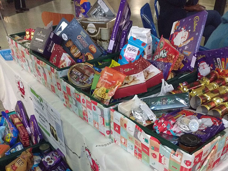 Some of the donations received for the foodbank