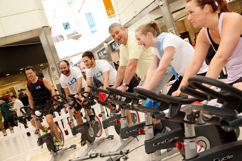 Spin bikers from the LC will be giving a day-long health and well-being demonstration at Swansea's Quadrant Shopping Centre on Saturday.  The focus is on fitness at Swansea's busy Quadrant Shopping Centre this Saturday when the city's shoppers get the cha