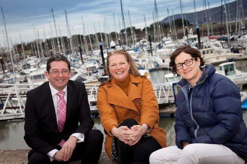 ALL WALES BOAT SHOW, Pictured at Conwy Marina are Jon Roberts, Davina Carey-Evans and Julia Bartholomew.