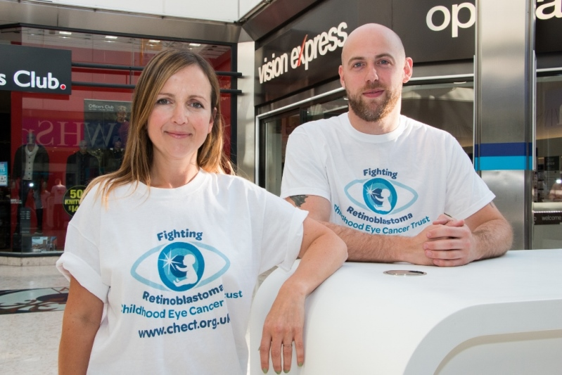 Jo Richards and Vision Express store manager David Curtis. Picture: ©Adam Davies | All Rights Reserved 2015
