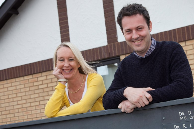 BCUHB... Pictured are physiotherapists Cathy Wynne and Robert Caine who have been nominated for a national award.