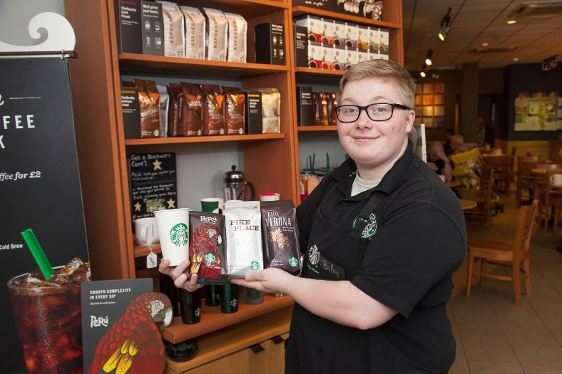 Billy Paterson is the Coffee Master at Starbucks in Eagles Meadow in Wrexham