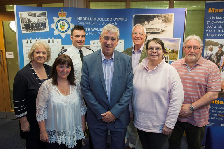 PCC Pictured is Arfon Jones the police and crime commissioner for the North Wales Police  with Independent custody visitors for the East Division