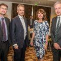 Bank of England, Wrexham Business Professionals at the Ramada, Wrexham. From left, Steve Hicks, Ben Broadbent, Gill Kreft and Gwyn Evans