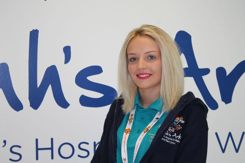 Megan Gibbon, volunteer at Noah's Ark Children's Hospital for Wales