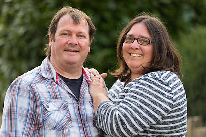 Gareth & Helen, adopters of a brother and sister with developmental delay and dyslexia (Pic: Matthew Horwood)