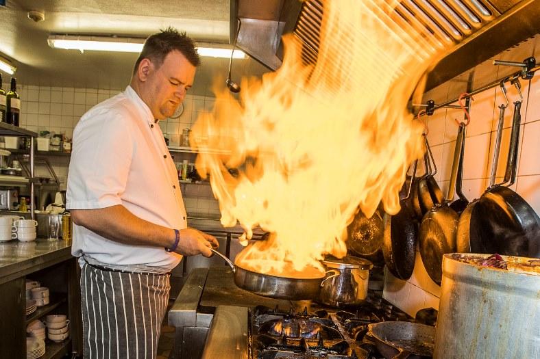 Jack Hatley, chef at Gales in Llangollen.