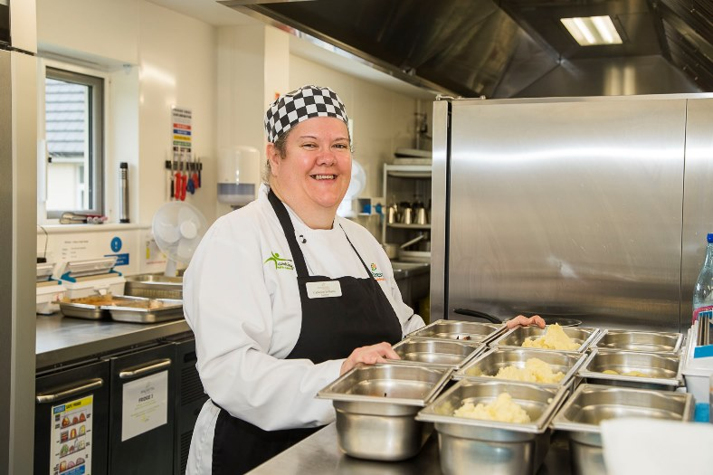 Care Awards 2016. Catherine Williams at the kitchen at Bryn Ivor Care Home, Cardiff