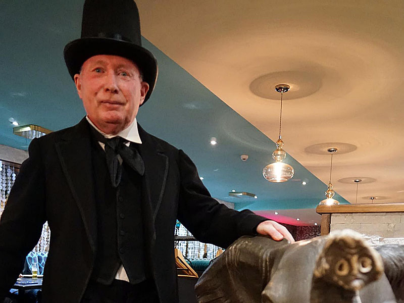 Rev Eldon Phillips, a Goods Shed Trust Trustee, dressed up as Isambard Kingdom Brunel