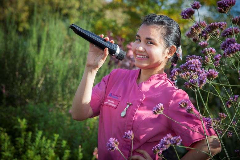 PENDINE PARK...BODLONDEB. Care Practitioner Sheena Miranda who has been invited by Wrexham MP Ian Lucas to sing at an event in Queen's Square Wrexham on October 29th.