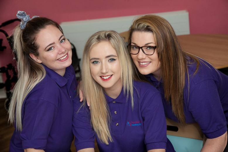 Pendine Park new carers Alisha Bagnall, Emily Williams and Lauren Evans.