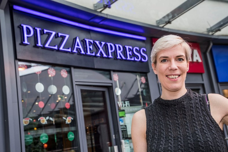 Celine Larnicol,, new manager at Pizza Express at Eagles Meadow, Wrexham.