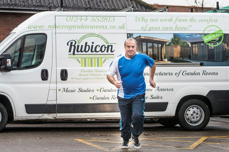 Rubicon workshops Shotton. Production manager Martin Stevens who will be running in the Chester half marathon for charity.