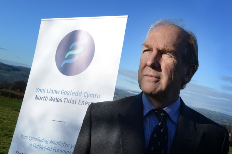 Henry Dixon, chairman, North Wales Tidal Energy and Coast Protection Company.   Picture by Richard Williams. richardwilliamsimages@hotmail.com 07901518159