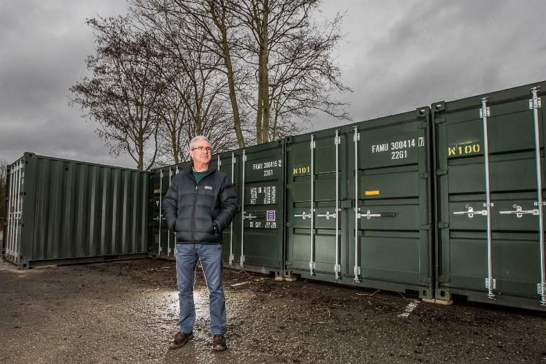 Stuart Bowker at Lock Stock's new site at Felin Puleston, Ruabon Road, Wrexham