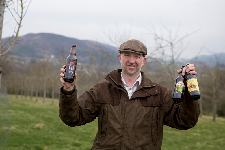Denbighshire Business Month Pictured is Steve Hughes from Rosie's Cider in Llandegla.