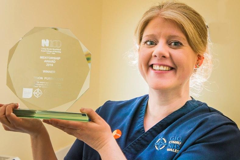Ffion Pursglove at Ysbyty Gwynedd, winner of the Royal College of Nursing Menyorship Award 2016