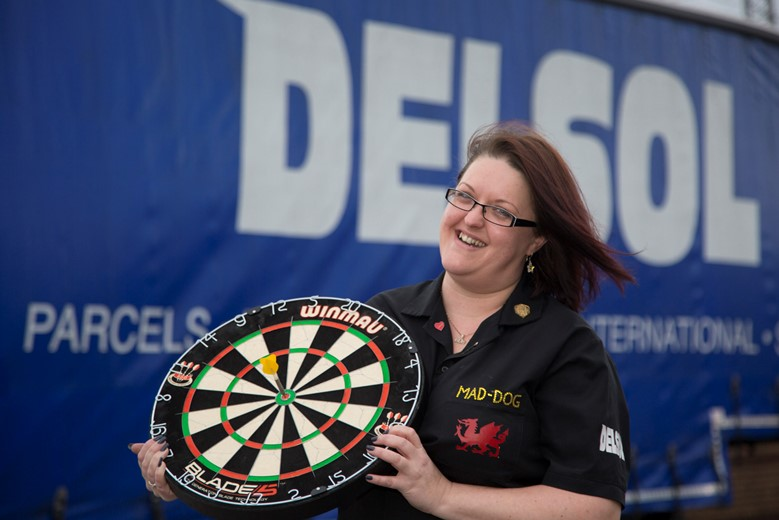 DELSOL.... Pictured is Claire Maddock from Delsol  who is a county level darts player .