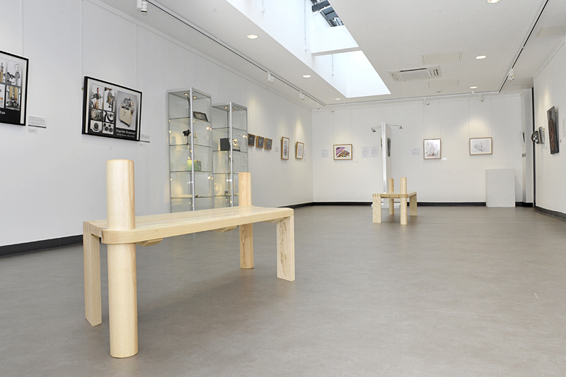 PHOTOGRAPHS OF THE NEW BENCHES IN THE UHL GALLERY TO ACCOMPANY AN ARTICLE COMMUNICATIONS ARE PRODUCING.