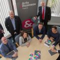 Arts & Business Cymru business ambassadors Pictured (front L/R) are Chris Frost, Owner at Manorhaus Boutique Hotel, Gwenno Angharad NW Partnership Director, Ken Grayson, Chief Executive Peninsula Home Improvements, Paula Jewson, Director, Tesni Homes and Chair A&B Cymru Board Member, Mario Kreft Director, Pendine Park Care organisation, Roy Jones , Community Liason Officer Scottish Power, Jeremy Salisbury, Director Salisbury's & Co and Andrew Bowden Chief executive, Cartrefi Conwy.