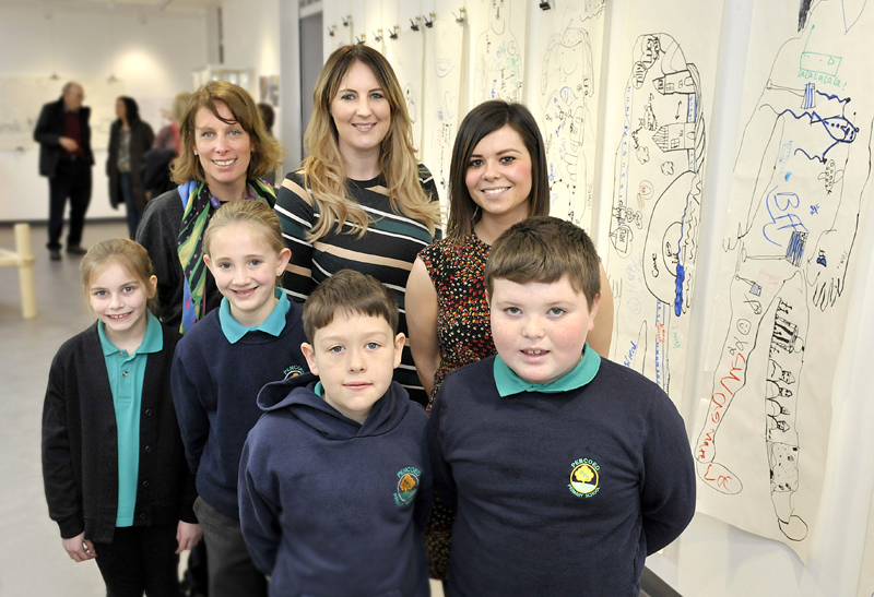 GALLERY EXHIBITION OPENING WITH SOPHIE HOWE (FUTURE GENERATIONS COMMISSIONER) AND LOCAL SCHOOL CHILDREN.