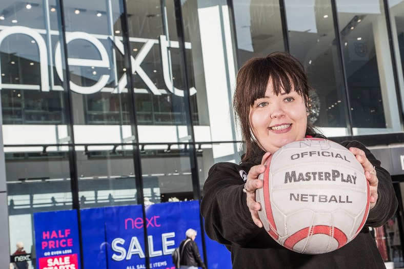 Gemma Nelson from Next at Eagles Meadow, Wrexham is a netball coach who coaches at a high level and is working with international team in Holland.